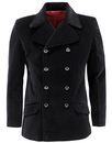 MADCAP ENGLAND VELVET BREED RETRO MOD JACKET BLACK