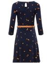 Beth MADEMOISELLE YEYE Retro Mod 60s Leaf Dress