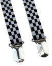 'Drace' MERC Mens Retro Mod Skinny Braces (Check)