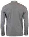 Japster MERC Retro Mod Classic Gingham Shirt BLACK