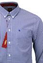 Japster MERC Retro Mod Button Down Gingham Shirt B