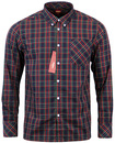 Neddy MERC Retro 60s Classic Tartan Mod Shirt (N)
