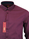 Siegel MERC Retro Sixties Polka Dot Mod Shirt (W)