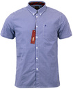 MERC TERRY RETRO MOD 60S CLASSIC GINGHAM SHIRT