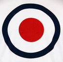 Ticket MERC Mens Mod Target Pop Art Retro T-Shirt