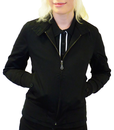 MERC WOMENS HARRINGTON JACKET IN BLACK MOD RETRO