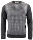ORIGINAL PENGUIN Retro Mod 60s Houndstooth Jumper