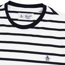 ORIGINAL PENGUIN Retro Breton Stripe T-Shirt WHITE