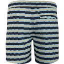 ORIGINAL PENGUIN Retro Zig-Zag Volley Swim Shorts