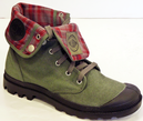 PALLADIUM BAGGY BOOTS METAL CANVAS MOD INDIE BOOTS