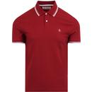 Penguin biking red polo