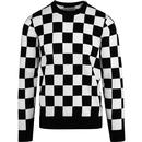 Penguin crew checkerboard dark sapphire top