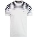 Penguin gradient stripe bright white tee
