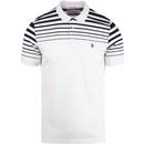Penguin gradient stripe polo shirt bright white