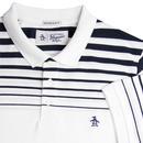 ORIGINAL PENGUIN Retro Gradient Stripe Polo WHITE