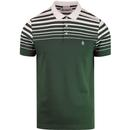 Penguin gradient stripe polo shirt sycamore