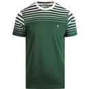 Penguin men's gradient stripe tee sycamore