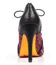 Halston POETIC LICENCE Retro Tartan Stiletto Heels