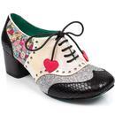Poetic licence clara bow floral brogue heels