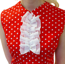 Polkadot Retro Ruffle Front Sixties Mod Dress (R)