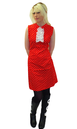 RETRO SIXTIES FIFTIES POLKA DOT RUFFLE DRESS MOD