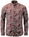 Hornchurch PRETTY GREEN Sixties Mod Paisley Shirt