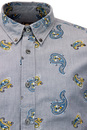 Kelby PRETTY GREEN Retro Mod 1960s Paisley Shirt