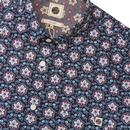 PRETTY GREEN Leaf Print Penny Collar Mod Shirt