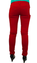 'Fiery Drainpipe Jeans' - Retro Red Skinny Jeans