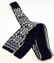 Fair Isle Star - Retro 60s Pattern Mod Knitted Tie