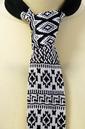 Classic Fair Isle Retro 60s Mod Knitted Silk Tie