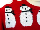 Frosty Retro 70s Indie Snowman Christmas Jumper R