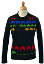 Space Invaders Mens Retro Indie Seventies Jumper