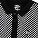 SKA & SOUL Men's Mod Checkerboard Woven Polo