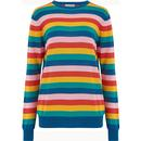 Sugarhill rita summer multi stripe sweater