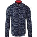 Tootal ground floral shirt navy