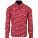 Tootal ground floral print shirt red
