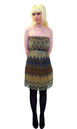 Zig Zag TULLE Retro 70s Indie Art Deco Tube Dress