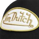 VON DUTCH Patch Retro Trucker Cap BLACK/GOLD