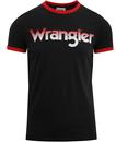 Wrangler logo ringer tee faded black