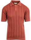 aaron afield crepe knitted stripe polo bruchetta