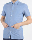 Bager AFIELD Retro Mod Polka Dot Chambray SS Shirt