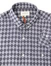 AFIELD Men's Retro Mod Op Art Triangle Check Shirt