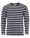 afield crew neck french terry tee white navy mod