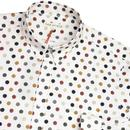 FAR AFIELD Retro Vintage Footballs Print Shirt