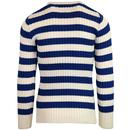 Ruben AFIELD Retro Ribbed Fisherman's Jumper Bl