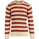 afield ruben ribbed knitted stripe jumper bruchet