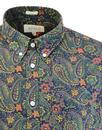 AFIELD 60s Mod Button Down Painted Paisley Shirt