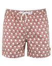 afield mens retro 1980s sun print swim shorts