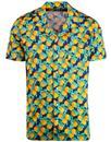 afield stachio retro oranges summer hawaiian shirt